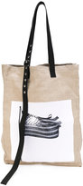 Raf Simons x Robert Mapplethorpe woven oversized tote bag - men - Hemp - One Size