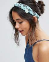 Asos Embellished Palm Tree Turban Headband