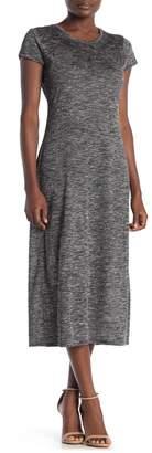 Love Stitch Short Sleeve Midi Dress