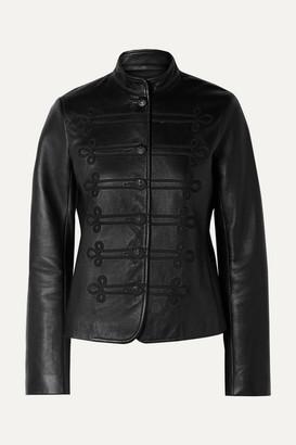 Nili Lotan Jules Embroidered Leather Jacket - Black