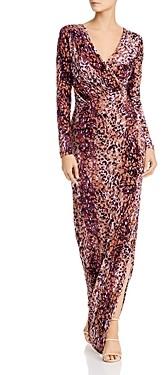 Rachel Zoe Dianora Printed Velvet Gown