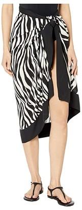 La Blanca Abstract Zebra Pareo Cover-Up (Black/Cream) Women's Swimwear