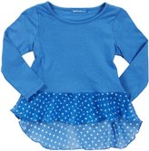 LAmade Kids Scoop Neck Tee (Toddler/Kid) - Breezy Blue-6x