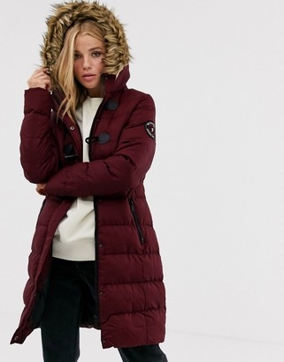 Brave Soul wizard long padded coat with faux fur hood