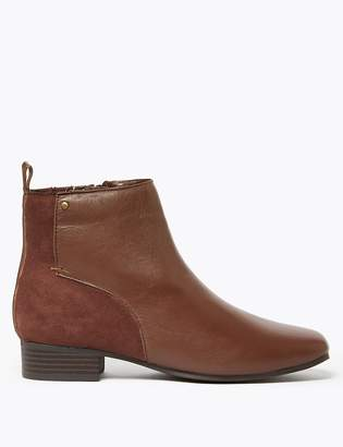 M&S CollectionMarks and Spencer Leather & Suede Ankle Boots
