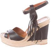 Valentino Tassel Wedge Sandals
