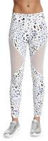 Varley Bicknell Leopard-Print Leggings W/Mesh Inset