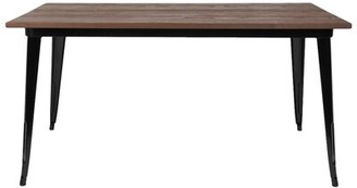 Williston Forge Oxfordshire Rustic Dining Table Base Color: Black