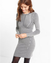 Express plaited body-con sweater dress