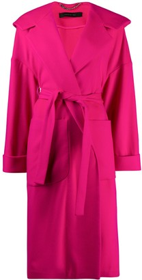 FEDERICA TOSI Oversized Knit Belted Coat