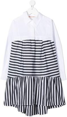 Marni Striped Flared Shirt Dress