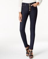 MICHAEL Michael Kors Petite Button-Front Skinny Jeans