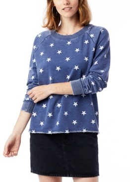Alternative Apparel Lazy Day Printed Burnout French Terry Women's Pullover Sweatshirt
