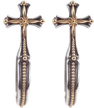 Konstantino Cross Hoop-Drop Earrings