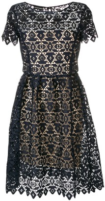 Emporio Armani embroidered A-line dress