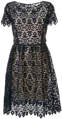 Emporio Armani embroidered A-line dress