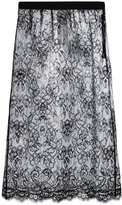 Maison Margiela sheer plasticised lace skirt - women - Polyamide/Polyurethane/Viscose - 40