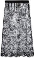Maison Margiela sheer plasticised lace skirt - women - Polyamide/Polyurethane/Viscose - 42
