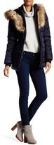 NOIZE Ivy Faux Fur Trim Hooded Puffer Coat