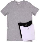 Lacoste Essentials 3-Pack V-Neck Tee Men's Underwear