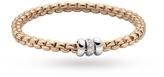 Fope 18ct Rose Gold Exclusive Flex'It Olly 0.17ct Diamond Bracelet