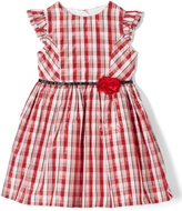 Laura Ashley Red Plaid Angel-Sleeve Dress - Infant