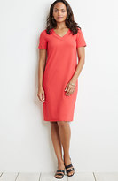 J. Jill Wearever Short-Sleeve V-Neck Dress