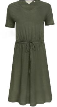 People Tree Olive Linen Aryn Dress - 8