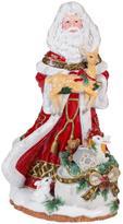Fitz & Floyd Hand Painted Santa Musical Figurine