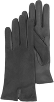 Forzieri Black Touch Screen Leather Women's Gloves