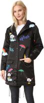 Mira Mikati Print Rain Rain Go Away Raincoat