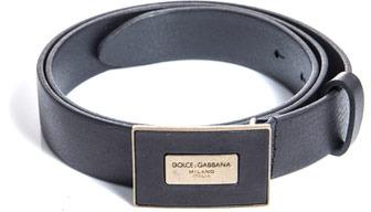 Dolce & Gabbana Leather plaque buckle belt