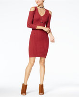 Jessica Simpson Juniors' Cold-Shoulder Sweater Dress