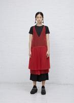 Wunderkind red sleeveless sheer dress