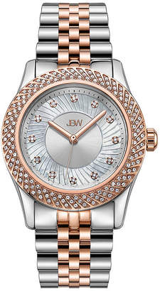 JBW 18K Rose Gold Over Stainless Steel 1/8 CT. T.W Genuine Diamond 3-pc. Watch Boxed Set-J6368c