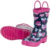 Hatley Hatleys Kids Pretty Butterflies Rain Boot Navy (Ships from Canada)