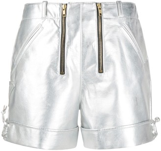 Philosophy di Lorenzo Serafini High-Waisted Double-Zip Shorts
