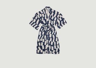 Bobo Choses Rectangles Print Lyocell And Linen Kimono - U