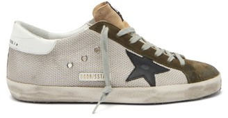 Golden Goose Superstar Suede-trimmed Canvas Trainers - Grey