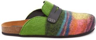 J.W.Anderson striped felt loafers