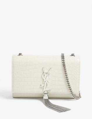 Saint Laurent Kate tassel crocodile-embossed leather shoulder bag