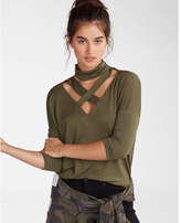 Express strappy mock neck london tee