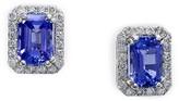Effy Jewelry Effy Gemma 14K White Gold Tanzanite and Diamond Earrings, 1.96 TCW