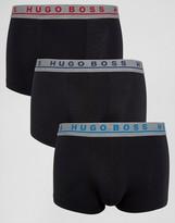 HUGO BOSS BOSS By Trunks In 3 Pack Black
