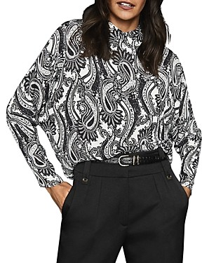 Reiss Paisley Collared Pullover Blouse - 100% Exclusive