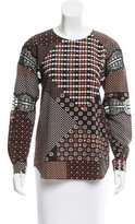 Thakoon Printed Lace-Accented Tunic w/ Tags