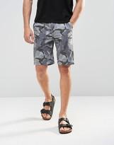 Asos Chino Shorts In Gray Camo Print