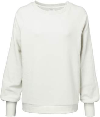 Ya-Ya Sweatshirt with Puff Sleeves - White Sand - small | White Sand - Black/Black