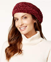 Charter Club Velvety Solid Chenille Beret, Created for Macy's