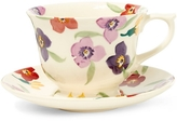 Emma Bridgewater Large Wallflower Earthenware Tea Cup and Saucer
